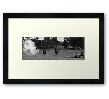 bombs go off on way home Framed Print