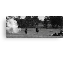 bombs go off on way home Canvas Print