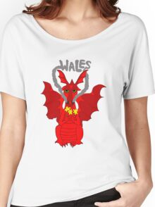 Welsh Dragon with daffodils Women's Relaxed Fit T-Shirt