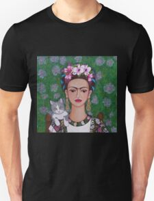 Frida cat lover closer Unisex T-Shirt