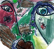 Primary Impression on White by Mikey Hansen by Rebecca Hansen