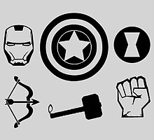 The Avengers - Minimal Symbols by TylerMellark
