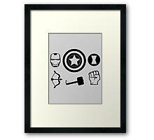 The Avengers - Minimal Symbols Framed Print