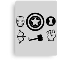 The Avengers - Minimal Symbols Canvas Print