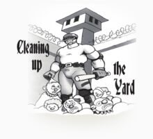 Cleaning up the yard by Alleycatsgarden