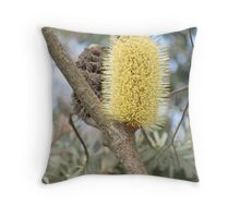 Golden Nectar Throw Pillow