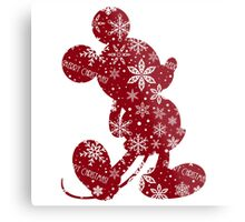 Christmas Mickey Metal Print