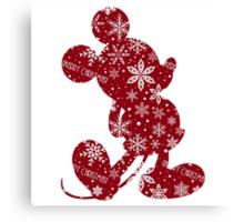 Christmas Mickey Canvas Print