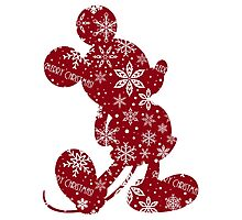 Christmas Mickey Photographic Print