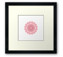 """Spirit of India: Mandala Fleur-SnowFlake"" in rose  Framed Print"