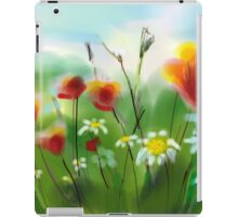 Poppies and Daisies Painting iPad Case/Skin