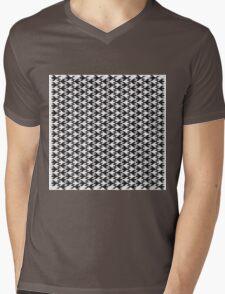 Animal Pattern -Geometric Black and White Mens V-Neck T-Shirt