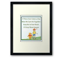 Winnie the Pooh - Firendship Quote  Framed Print