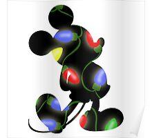 Christmas Lights Mickey Poster