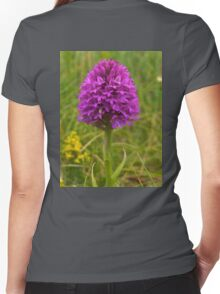 Pyramidal Orchid, Inishmore Women's Fitted V-Neck T-Shirt