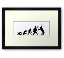 tennis sport darwin evolution Framed Print