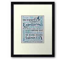 Harry Potter - All Books Quotes  Framed Print