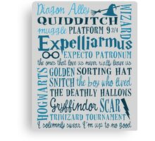 Harry Potter - All Books Quotes  Canvas Print
