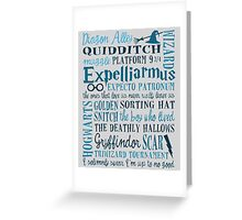 Harry Potter - All Books Quotes  Greeting Card