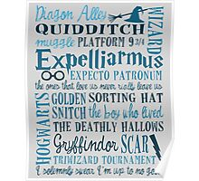 Harry Potter - All Books Quotes  Poster