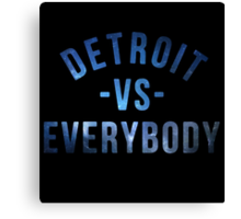 Detroit VS Everybody Nebula Canvas Print