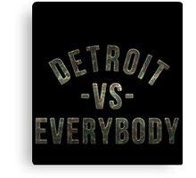 Detroit VS Everybody Camo Canvas Print