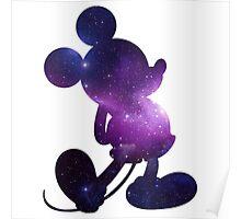 Galaxy Mickey Poster