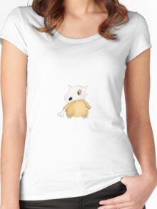 Cubone: the Lonely Pocket Monster Women's Fitted Scoop T-Shirt