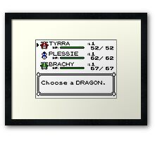 Pocket Puzzle and Dragon Monsters Framed Print