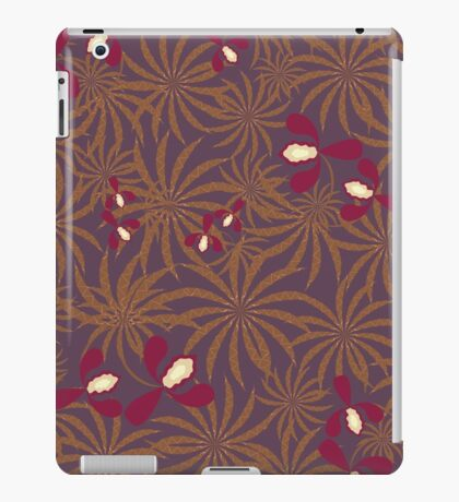 Painted exotic orchids flowers retro pattern iPad Case/Skin