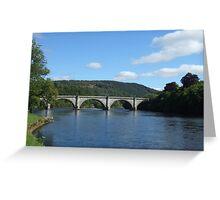 River Tay at Dunkeld Greeting Card