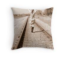 Walking Away Throw Pillow