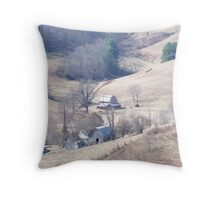 Rustic Valley Throw Pillow