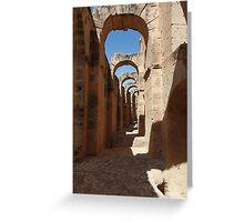 ancient ruins Greeting Card