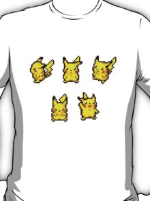 Pokemon Dungeon Pikachu Sprites (Sticker Pack) T-Shirt