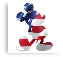 American Flag Mickey Metal Print
