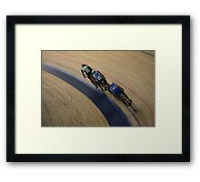 Cycling top view  Framed Print