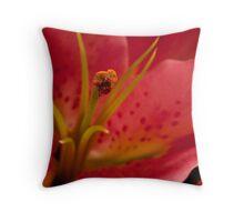 Macro lily Throw Pillow