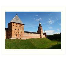 fortress wall of the Novgorod Kremlin Art Print