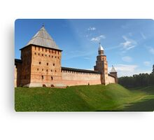 fortress wall of the Novgorod Kremlin Metal Print