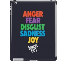 Inside Out emotions with the logo iPad Case/Skin