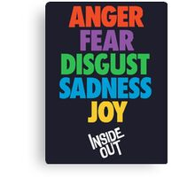 Inside Out emotions with the logo Canvas Print
