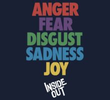 Inside Out emotions with the logo by booksandsky