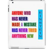NEVER MADE A MISTAKE iPad Case/Skin