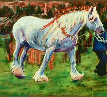 Shire Horse at Rally by helikettle