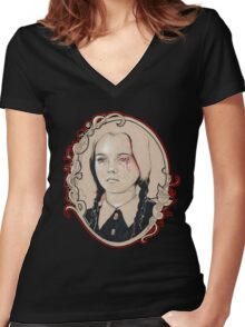 wednesday Women's Fitted V-Neck T-Shirt