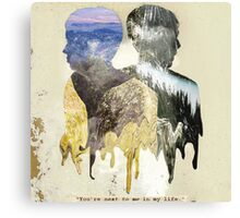 """Dan & Phil """"You're next to me in my life"""" Print Canvas Print"""