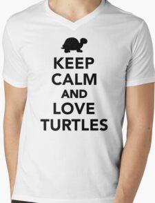 Keep calm and love Turtles Mens V-Neck T-Shirt