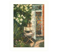 Seat in the Sun - Hereford Art Print