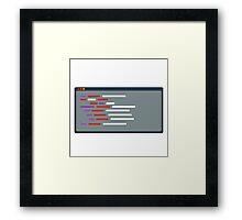 Code everywhere Framed Print